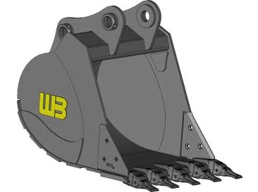 "Werk-Brau 36"" Heavy Duty Excavator Bucket, (82,000-105,000 Lb) Weight Class Machines, EX40HD36"