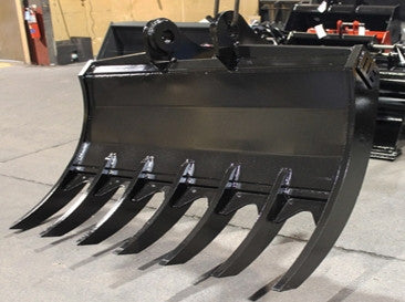 "1GR24 Werk-Brau 24"" Mini-Excavator Grading Rake, (7500-11000 Lb) Weight Class Machines"