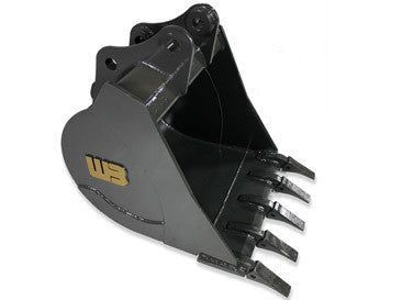 "Werk-Brau 24"" Mini-Excavator Bucket, (7500-11000 Lb) Weight Class Machines, 15MNHD24"