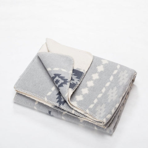 Grey Folcloristic Savona Throw
