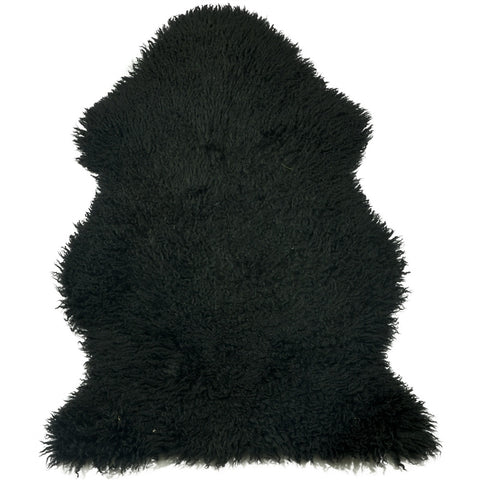 Curly Sheepskin Black