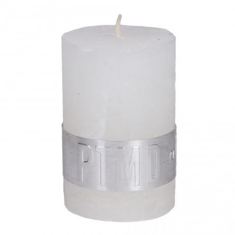 Rustic Hot White Pillar Candle 6x4cm