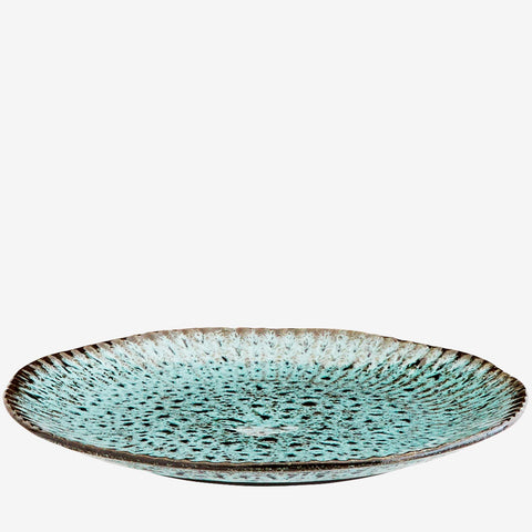 Turquoise Stoneware Plate
