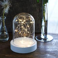 Bella Glass Dome With LED Lights H: 17cm
