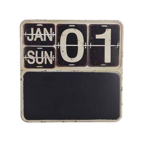 Iron Calendar with Blackboard