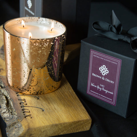 Brown & Drury Large 1681 Pomegranate Candle