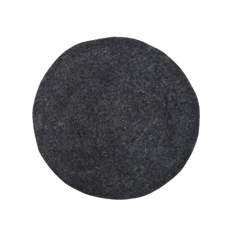 Charcoal Padded Felt Seat Cover Charcoal