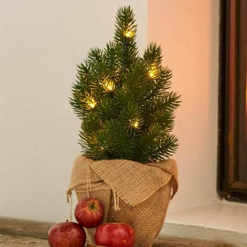 Green LED Lit Christmas Tree 35cm