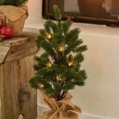 Green LED Lit Christmas Tree 55cm