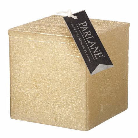 Chunky Square Candle Gold