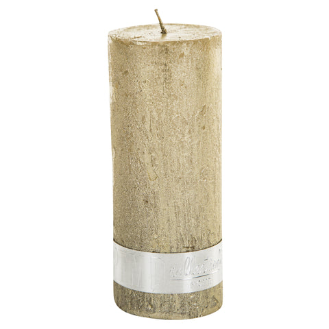 Rustic Gold Pillar Candle 12x5cm