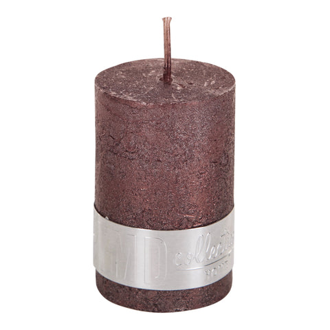 Rustic Bronze Pillar Candle 6x4cm