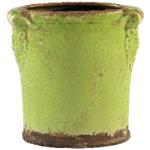 Daley Green Oval Ceramic Pot with Handles