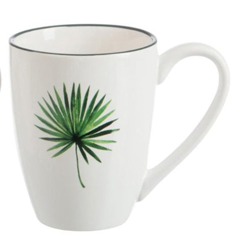 Palm Print Tropical Mug