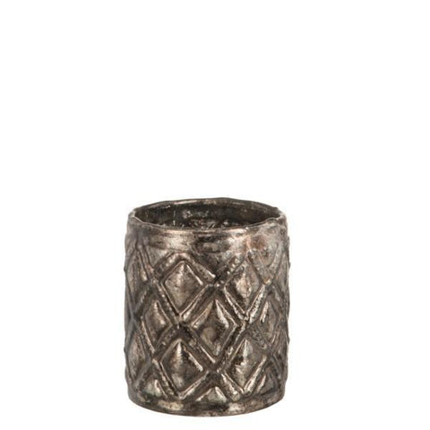 Taupe Diamond Patterned T-lite Holder