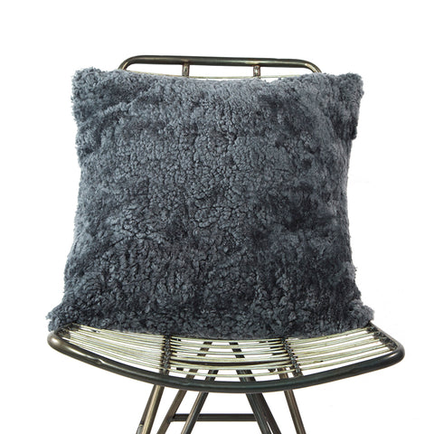 Curly Fur Cushion Anthracite