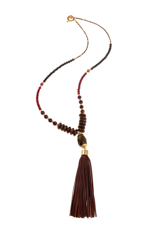 Barolo Plum Tassel Necklace