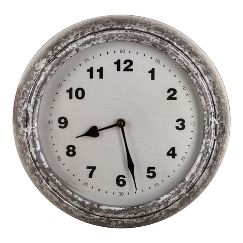Bond Iron Round Wall Clock Silver