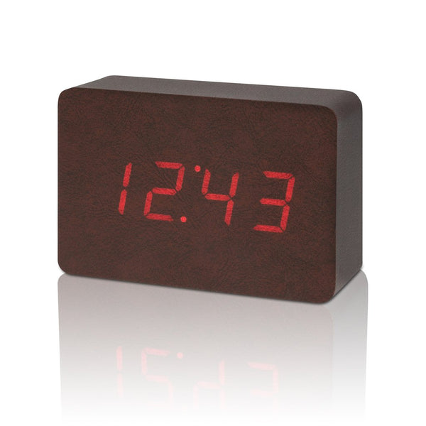 Brick Leatherette Click Clock