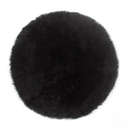 Black Curly Sheepskin Seat Pad