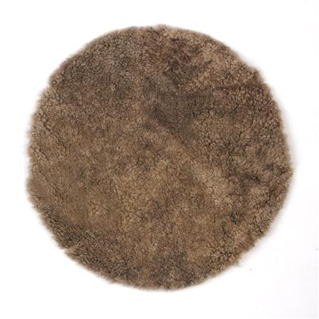 Brown Sheepskin Seat Pad