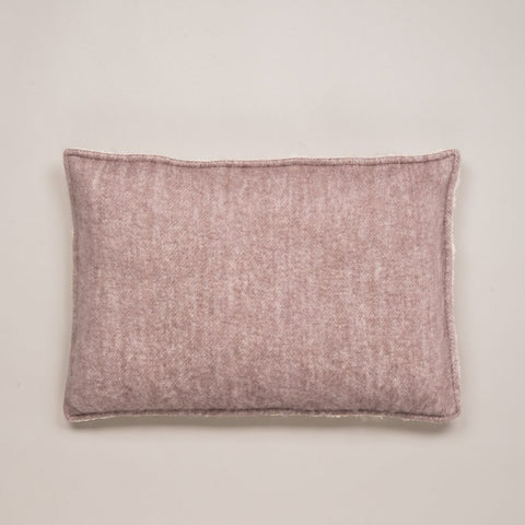 Sherpa Fleece-Backed Cushion Lilac