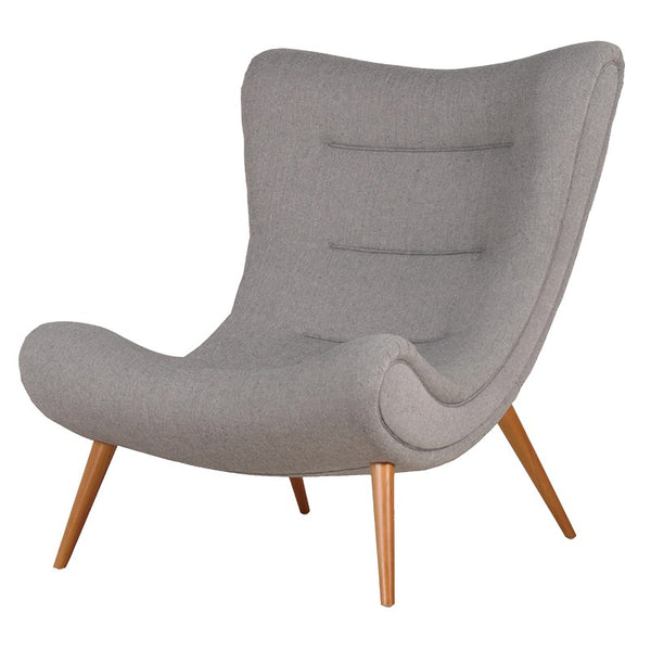 Beige Slouch Easy Chair