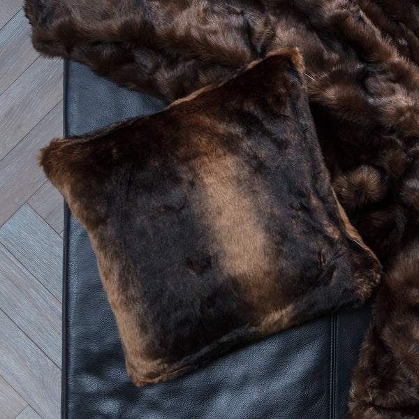 Cushion Faux Fur Mink