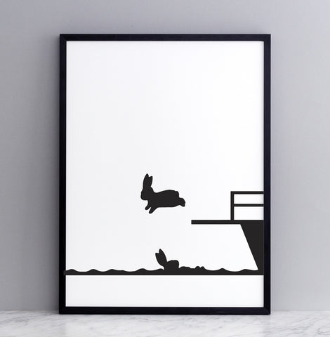 Diving  Rabbit Print Mint Publishing