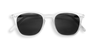 Izipizi  # E Sunglasses White Crystal Soft Grey Lenses