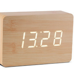 Brick Beech Click Clock W/White LED