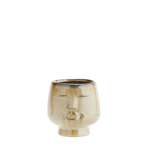 Flower Pot With Face Small