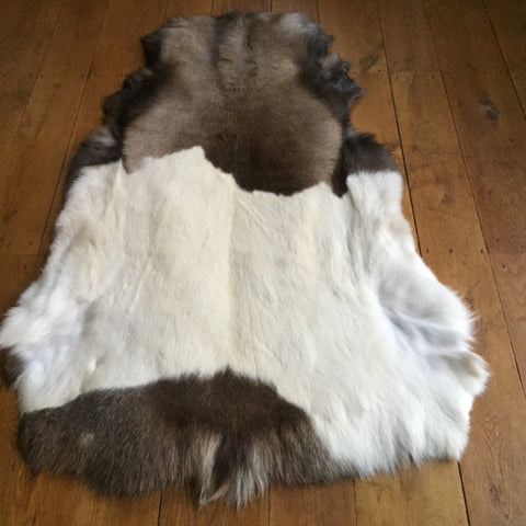 Rare Russian Natural Reindeer Hide  Dimensions L 130 cm x W 106 cm approx