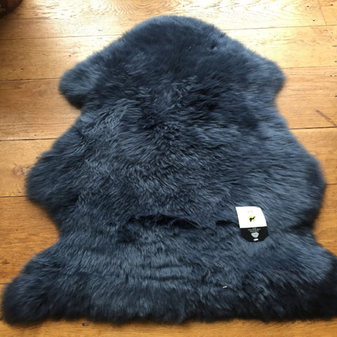 Light Navy Silky Sheepskin  Dimensions 85 cm+