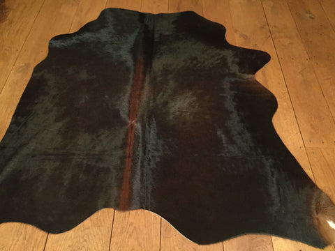 Cow Hide XS Black/Brown with Chestnut spine