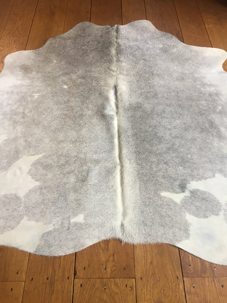 Cow Hide,Grey/White-Small
