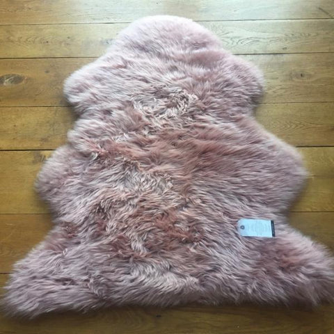 Silky Sheepskin Dark Pink