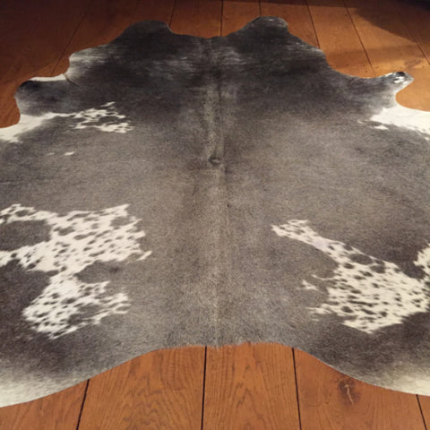 Grey/White Cow Hide        Dimensions 210 L x 204 W cm
