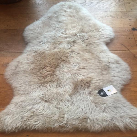 Silky Sheepskin Light Oyster