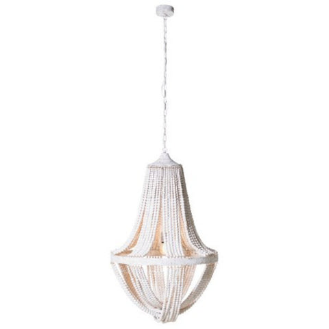 Wood Bead Ceiling Light  Dimensions H 105 cm x Dia 72 cm  Height Including chain 200 cm