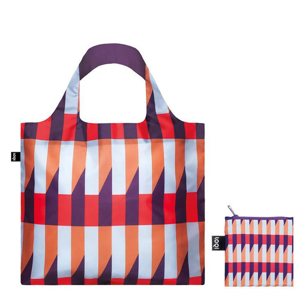 Loqi Geometric Stripes Bag