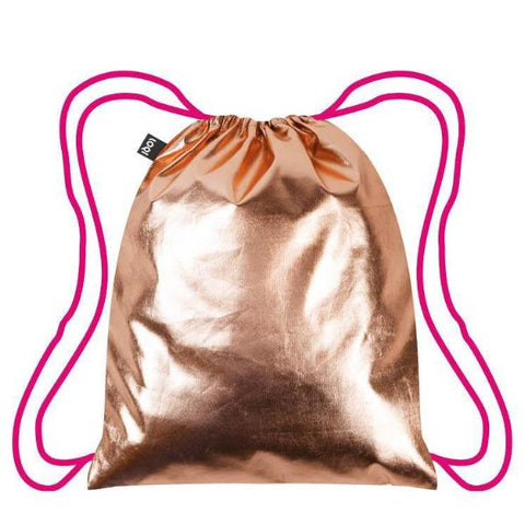 Loki Metallic Rose Gold & Pink Backpack