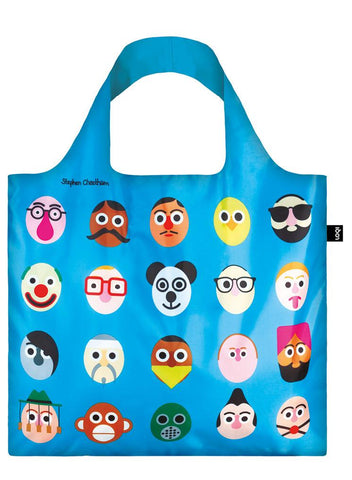 Loki Stephen Cheetham's Faces Bag - Blue