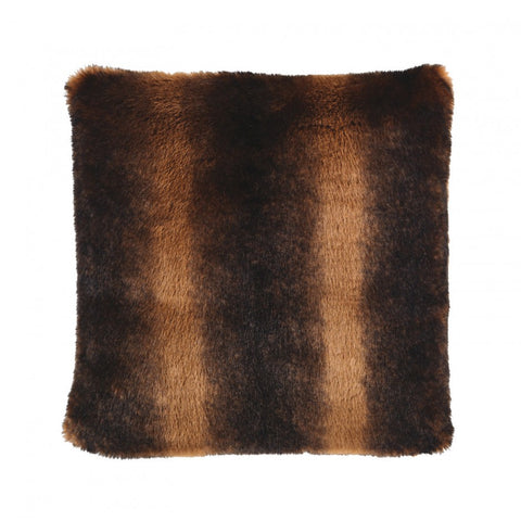 Luxurious Brown Faux Fur Cushion