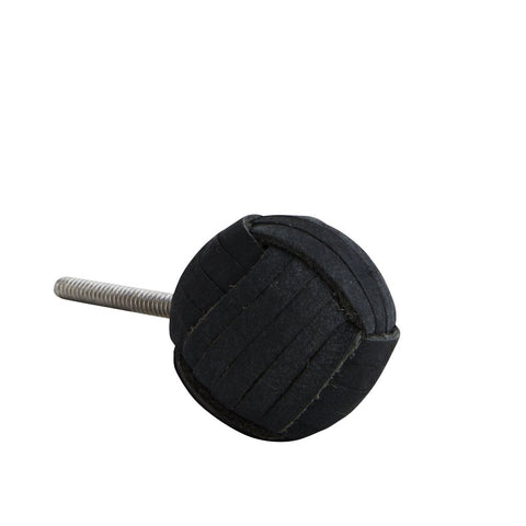 Black Leather Door Knob