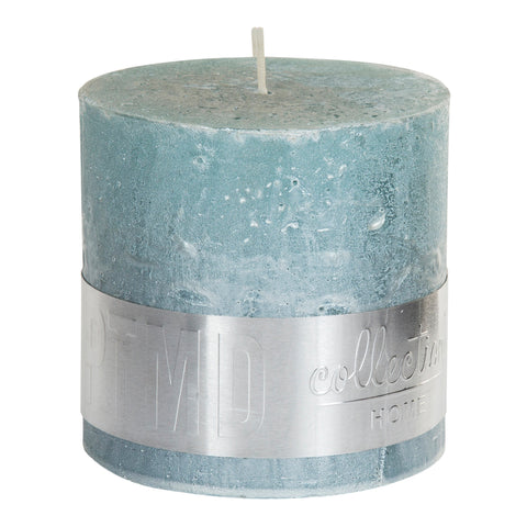Metallic Mint Green Block Candle 10x10