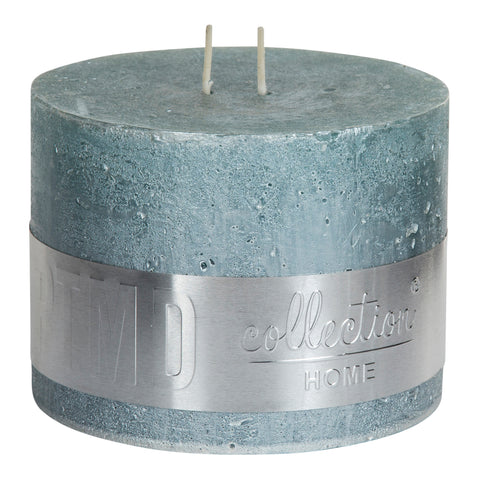 Metallic Mint Green Block Candle 12x9