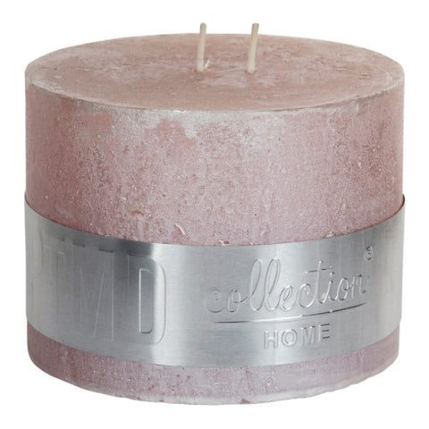 Metallic Pink Block Candle 12x9