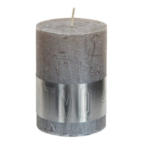 Metallic Taupe Pillar Candle 10x7
