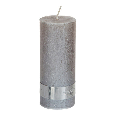 Metallic Taupe Pillar Candle 12x5